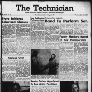 Technician, Vol. 43 No. 5 [Vol. 39 No. 5], September 25, 1958
