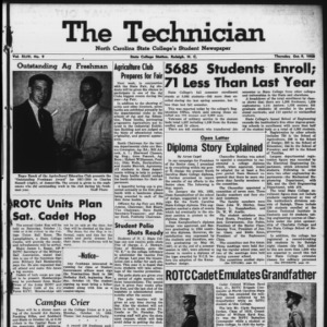 Technician, Vol. 43 No. 9 [Vol. 39 No. 9], October 9, 1958