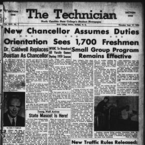 Technician, Vol. 44 No. 1 [Vol. 40 No. 1], September 17, 1959