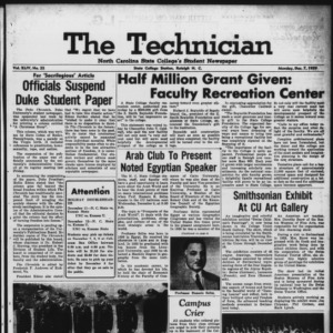 Technician, Vol. 44 No. 22 [Vol. 40 No. 22], December 7, 1959