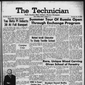 Technician, Vol. 44 No. 23 [Vol. 40 No. 23], December 10, 1959