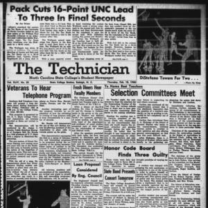 Technician, Vol. 44 No. 32 [Vol. 40 No. 32], February 18, 1960