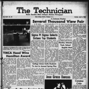 Technician, Vol. 44 No. 45 [Vol. 40 No. 45], April 4, 1960