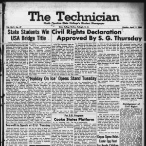 Technician, Vol. 44 No. 47 [Vol. 40 No. 47], April 11, 1960