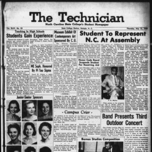 Technician, Vol. 44 No. 53 [Vol. 40 No. 53], May 12, 1960