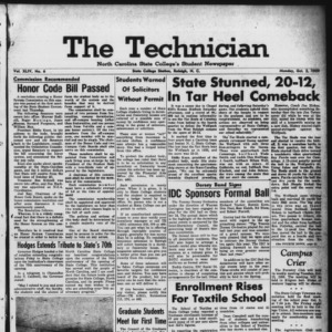Technician, Vol. 44 No. 6 [Vol. 40 No. 6], October 5, 1959