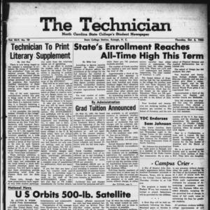 Technician, Vol. 45 No. 10 [Vol. 41 No. 10], October 6, 1960