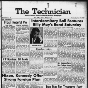 Technician, Vol. 45 No. 15 [Vol. 41 No. 15], October 19, 1960