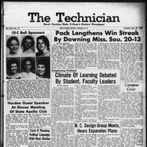 Technician, Vol. 45 No. 17 [Vol. 41 No. 17], October 24, 1960