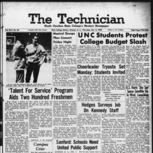 Technician, Vol. 45 No. 34 [Vol. 41 No. 34], December 8, 1960