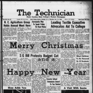 Technician, Vol. 45 No. 37 [Vol. 41 No. 37], December 15, 1960