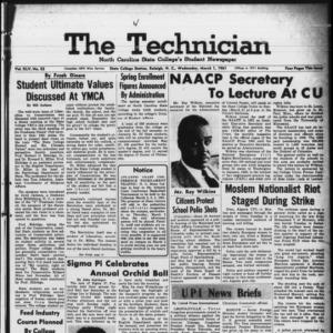 Technician, Vol. 45 No. 53 [Vol. 41 No. 53], March 1, 1961