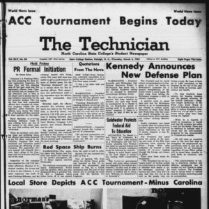 Technician, Vol. 45 No. 54 [Vol. 41 No. 54], March 2, 1961
