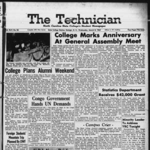 Technician, Vol. 45 No. 56 [Vol. 41 No. 56], March 8, 1961
