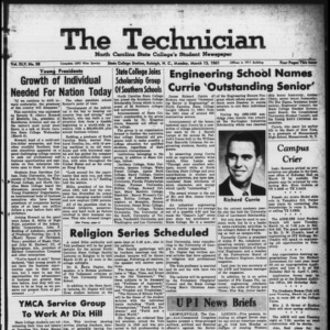 Technician, Vol. 45 No. 58 [Vol. 41 No. 58], March 13, 1961