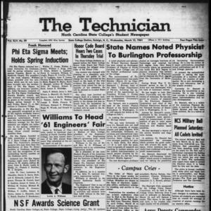 Technician, Vol. 45 No. 59 [Vol. 41 No. 59], March 15, 1961