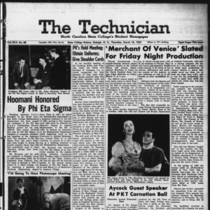 Technician, Vol. 45 No. 60 [Vol. 41 No. 60], March 16, 1961