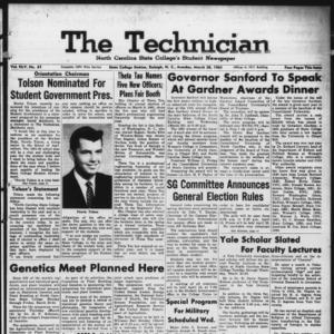 Technician, Vol. 45 No. 61 [Vol. 41 No. 61], March 20, 1961