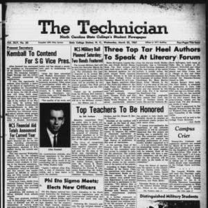 Technician, Vol. 45 No. 62 [Vol. 41 No. 62], March 22, 1961