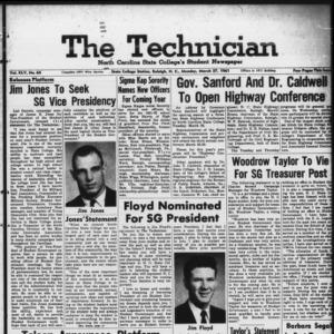 Technician, Vol. 45 No. 64 [Vol. 41 No. 64], March 27, 1961