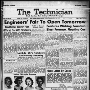Technician, Vol. 45 No. 67 [Vol. 41 No. 67], April 13, 1961