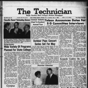 Technician, Vol. 45 No. 74 [Vol. 41 No. 74], May 1, 1961