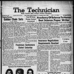 Technician, Vol. 45 No. 76 [Vol. 41 No. 76], May 4, 1961