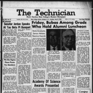 Technician, Vol. 45 No. 77 [Vol. 41 No. 77], May 8, 1961