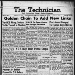 Technician, Vol. 45 No. 78 [Vol. 41 No. 78], May 10, 1961