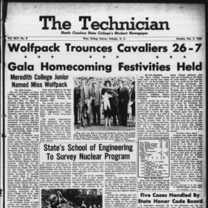 Technician, Vol. 45 No. 8 [Vol. 41 No. 8], October 3, 1960