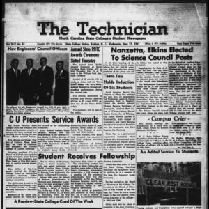 Technician, Vol. 45 No. 81 [Vol. 41 No. 81], May 17, 1961