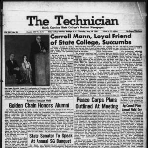 Technician, Vol. 45 No. 82 [Vol. 41 No. 82], May 18, 1961