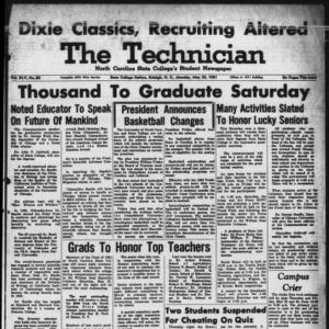 Technician, Vol. 45 No. 83 [Vol. 41 No. 83], May 22, 1961