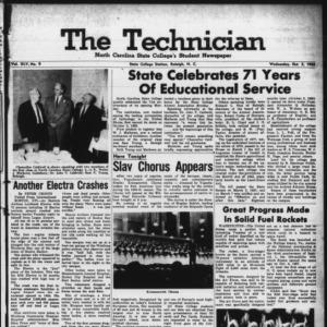 Technician, Vol. 45 No. 9 [Vol. 41 No. 9], October 5, 1960