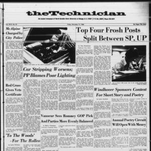 Technician, Vol. 46 No. 21 [Vol. 47 No. 21], November 11, 1966