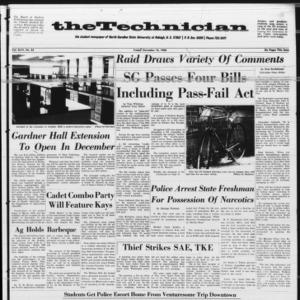 Technician, Vol. 46 No. 23 [Vol. 47 No. 23], November 18, 1966