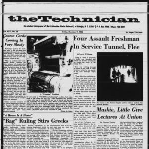 Technician, Vol. 46 No. 28 [Vol. 47 No. 28], December 9, 1966