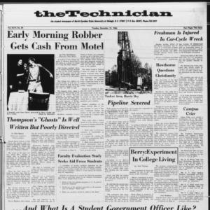 Technician, Vol. 46 No. 29 [Vol. 47 No. 29], December 13, 1966