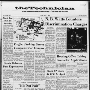 Technician, Vol. 46 No. 47 [Vol. 47 No. 47], March 6, 1967