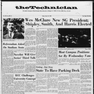 Technician, Vol. 46 No. 48 [Vol. 47 No. 49], March 10, 1967