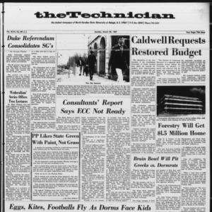 Technician, Vol. 46 No. 52 [Vol. 47 No. 52],  March 20, 1967