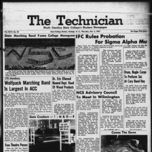 Technician, Vol. 46 No. 10 [Vol. 42 No. 10], October 5, 1961