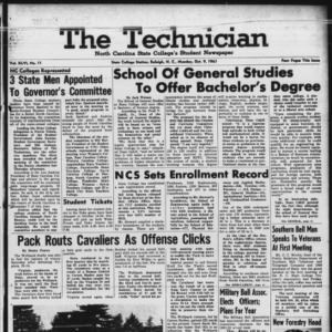 Technician, Vol. 46 No. 11 [Vol. 42 No. 11], October 9, 1961