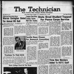 Technician, Vol. 46 No. 12 [Vol. 42 No. 12], October 11, 1961