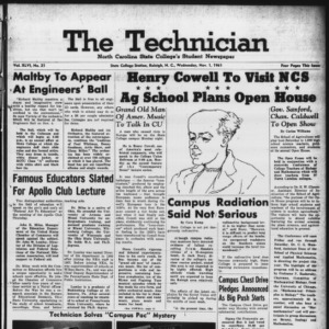 Technician, Vol. 46 No. 21 [Vol. 42 No. 21], November 1, 1961