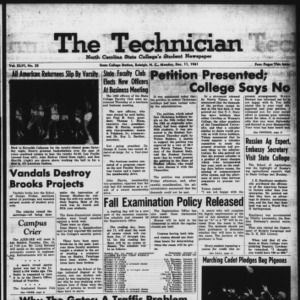 Technician, Vol. 46 No. 35 [Vol. 42 No. 35], December 11, 1961