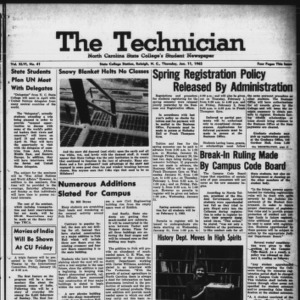 Technician, Vol. 46 No. 41 [Vol. 42 No. 41], January 11, 1962