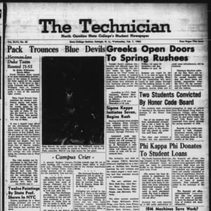 Technician, Vol. 46 No. 42 [Vol. 42 No. 42], February 7, 1962