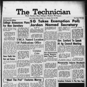 Technician, Vol. 46 No. 44 [Vol. 42 No. 44], February 12, 1962