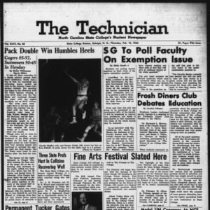 Technician, Vol. 46 No. 46 [Vol. 42 No. 46], February 15, 1962